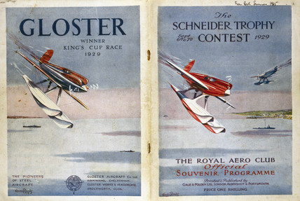 Schneider Trophy contest programme, 12 September 1929.