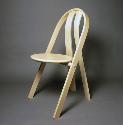 Steam bent stacking chair, 1996.