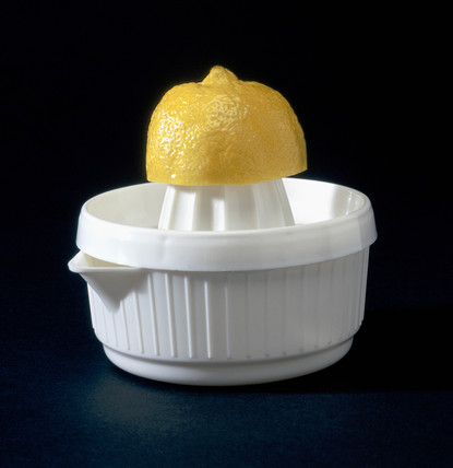 Lemon squeezer with lemon, 1997.