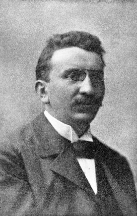 Louis Lumiere, French cinematography pioneer, c 1895.