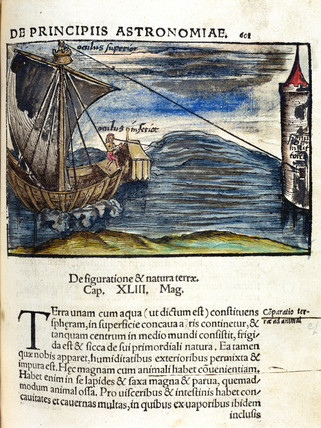 Measuring distance from ship to shore, 1535.