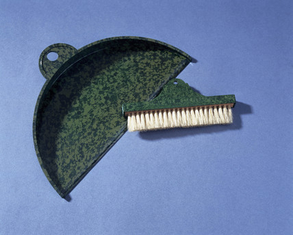 Table dust pan and brush, c 1930.