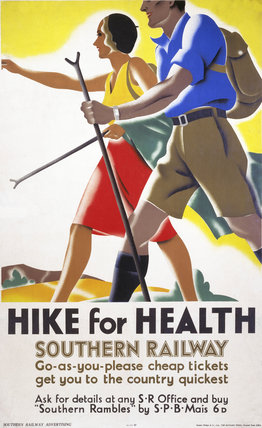'Hike for Health', SR poster, 1931.