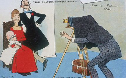 'The Amateur Photographer - Taking the Baby', c 1900.