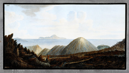 Little mountains below Mount Vesuvius, Kingdom of Naples, 1760.