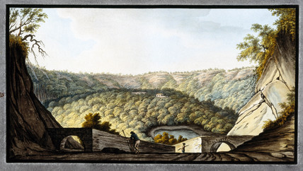 The crater of Astruni, Kingdom of Naples, c 1760.