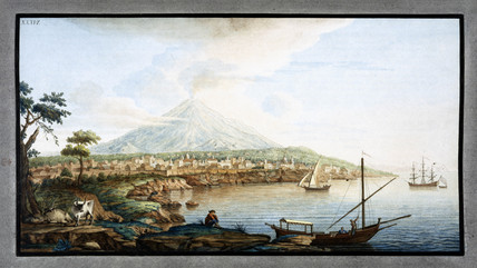 Mount Etna viewed from from Catania, Sicily, c 1770.