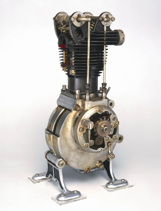 Triumph motorcycle engine, 1921.