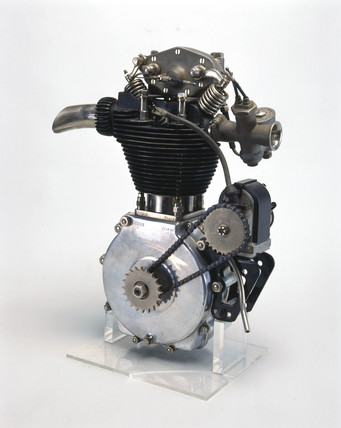 Norton motor cycle engine, 1928.