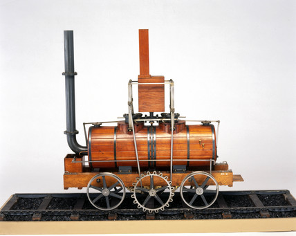 Blenkinsop's rack locomotive, 1812. Model (