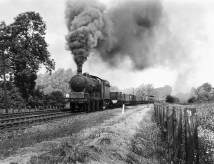 Class D18, London North Eastern Class J20 steam locomotive No 8276 approaching Audley End tunnel with an up coal train, c 1930s.