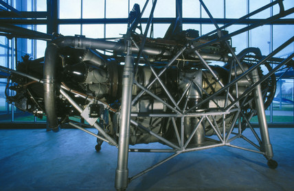 Flying bedstead test rig, 1954.