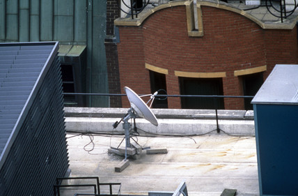 Satellite dish, London, April 1997.