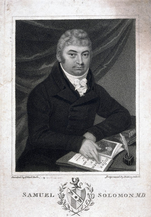 Samuel Solomon, British inventor and writer on health, c 1800.