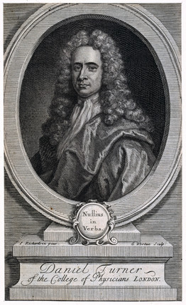 Daniel Turner, MD, English physician and surgeon, 1717.