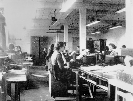 Codebreakers at Bletchley Park, c 1942.