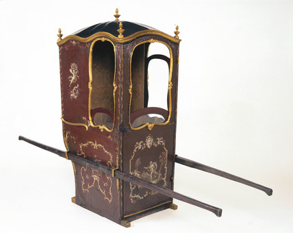Sedan chair, 17th-18th century.