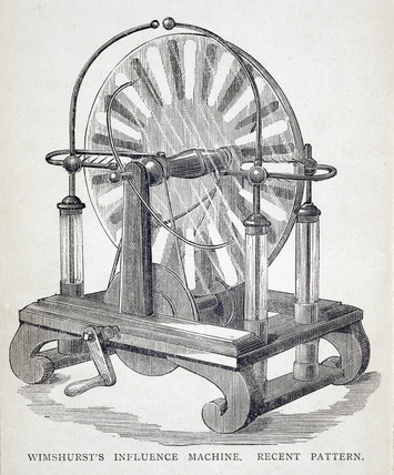 'Wimshurst's Influence Machine, Recent Pattern', 1886.