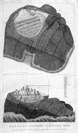 'Plan and Perspective Elevation of the Eddystone Rock', c 1756.