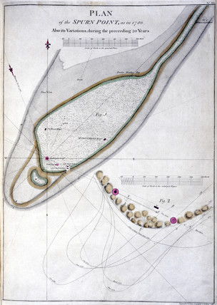 'Plan of the Spurn Point' lighthouse, River Humber, 1786.