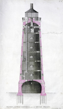 'Section of the high lighthouse upon the Spurn Point', c 1767.