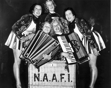 NAAFI concert parties, World War Two, c 1939-1945.