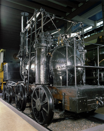 'Puffing Billy', 1813. This locomotive, wit