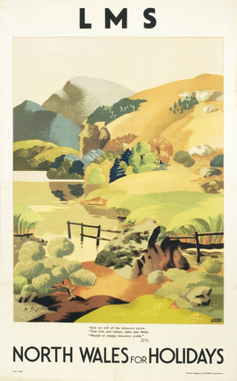 'North Wales for Holidays', LMS poster, c 1930s.