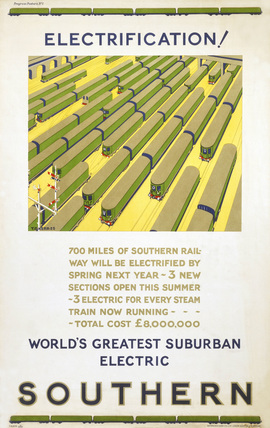 'Electrification', SR poster, 1925.
