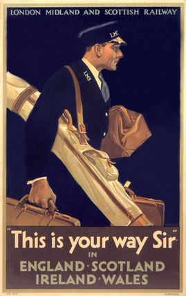 'This is Your Way Sir', LMS poster, c 1925.