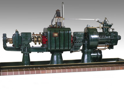 Parsons' radial flow steam turbine-generator, 1891.