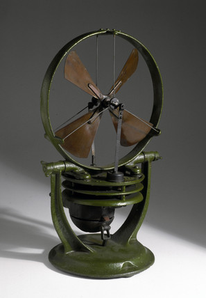 Gas-powered fan heater, 1909-1920.