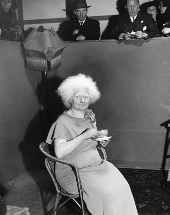 'The albino lady', 27 January 1938. This el
