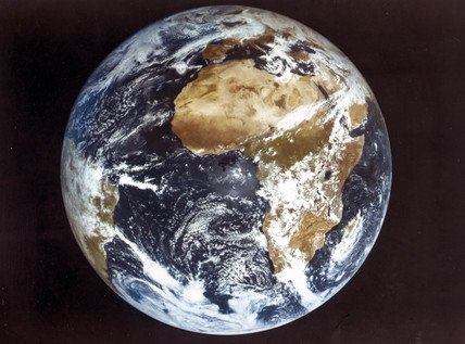 Planet Earth, as seen from the weather satellite, late 20th century.