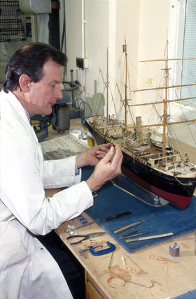 Work being carried out in the Conservation Workshops, 1990s.