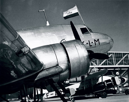 Douglas DC-3 of the KLM Airline, late 1930s.