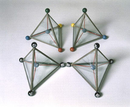 Models illustrating Van't Hoff's theory of the asymmetric carbon atom, c 1874.