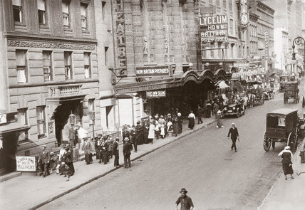 The Lyceum Theatre, New York City, United States, c 1915.