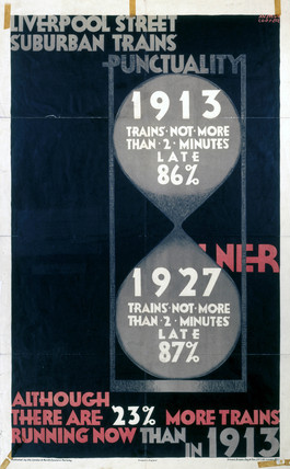 'Punctuality', LNER poster, 1927.