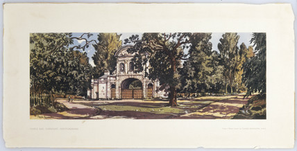 Temple Bar, Cheshunt, Herfordshire, BR carriage print, c 1950s.
