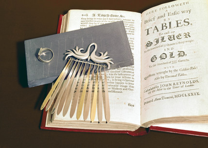 Tools for asaying gold and silver,  1574-1679.