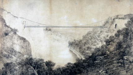 Design for the Clifton Suspension Bridge, Bristol, 1830.