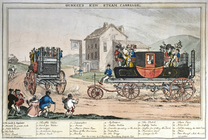 'Gurney's New Steam Carriage', 1827.