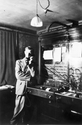 Fred Clarke as a switchboard operator.