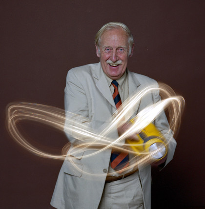 Trevor Baylis, English inventor, August 1999.