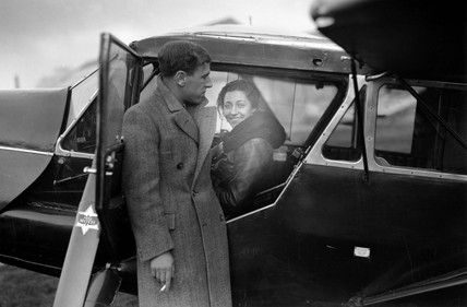 Amy Johnson, British aviator, 8 November 1932.
