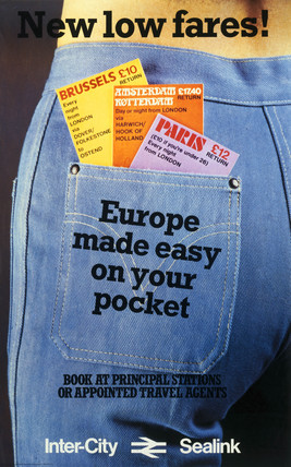 'Europe made easy on your pocket', British Rail poster, c 1970s.