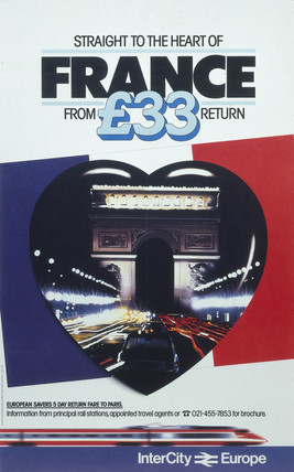 'Straight to the heart of France', British Rail poster, c 1980s.