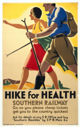 Hike For Health Southern Railways Poster C 1930s At