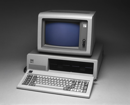 IBM 5150 personal computer, 1981.